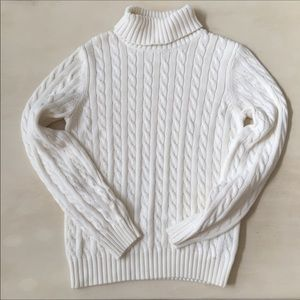Tommy Hilfiger cable knit turtleneck sweater   I1